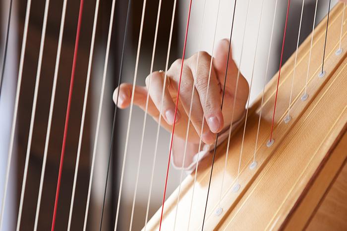 Musiktherapie für CI Nutzer: Harfe